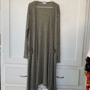 Lularoe Green Long Sleeve Cardigan With Pockets